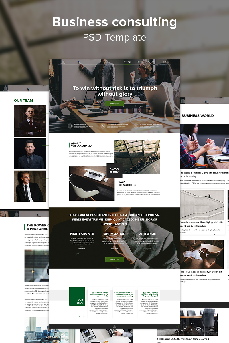 Business consulting PSD Template - screenshot