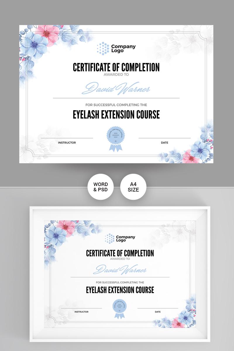 Company Certificate Template - screenshot