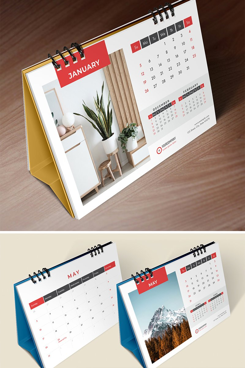 Desk Calendar 2020, Table Calendar, Planner, 26 Pages Planner