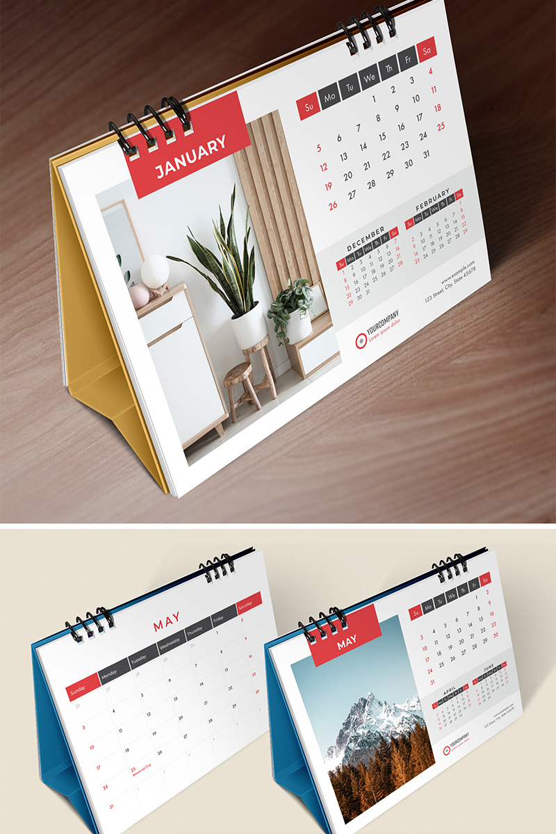 Desk Calendar 2020, Table Calendar, Planner, 26 Pages Planner - screenshot