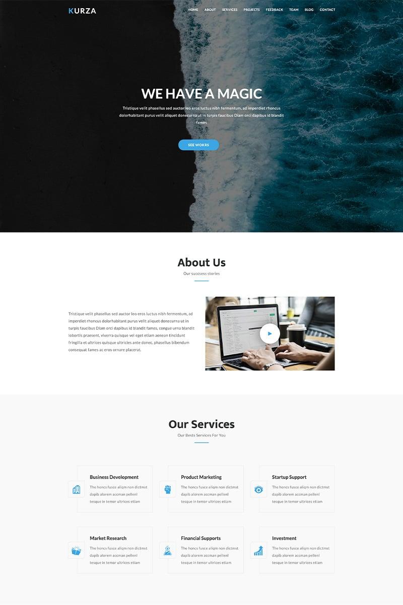 Kurza - Agency, Corporate, Portfolio HTML5 Landing Page Template - screenshot