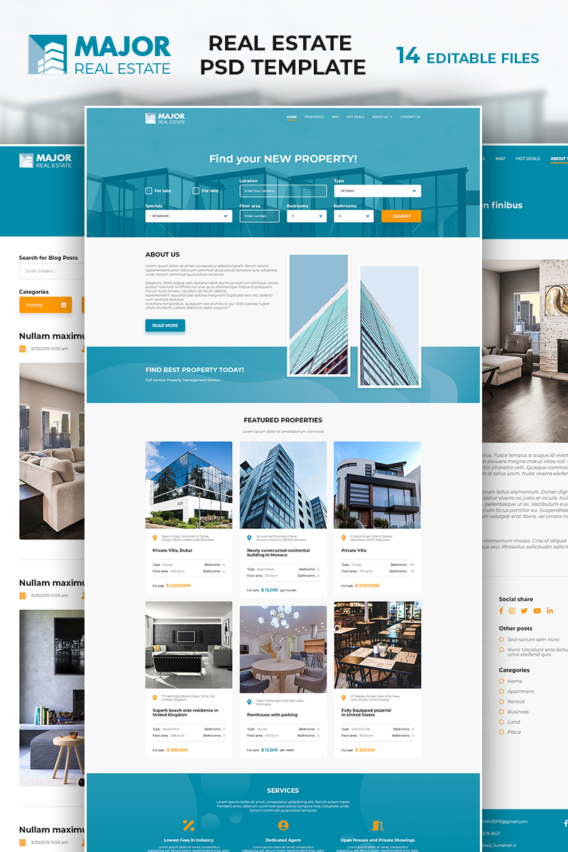 Major - Real Estate PSD Template