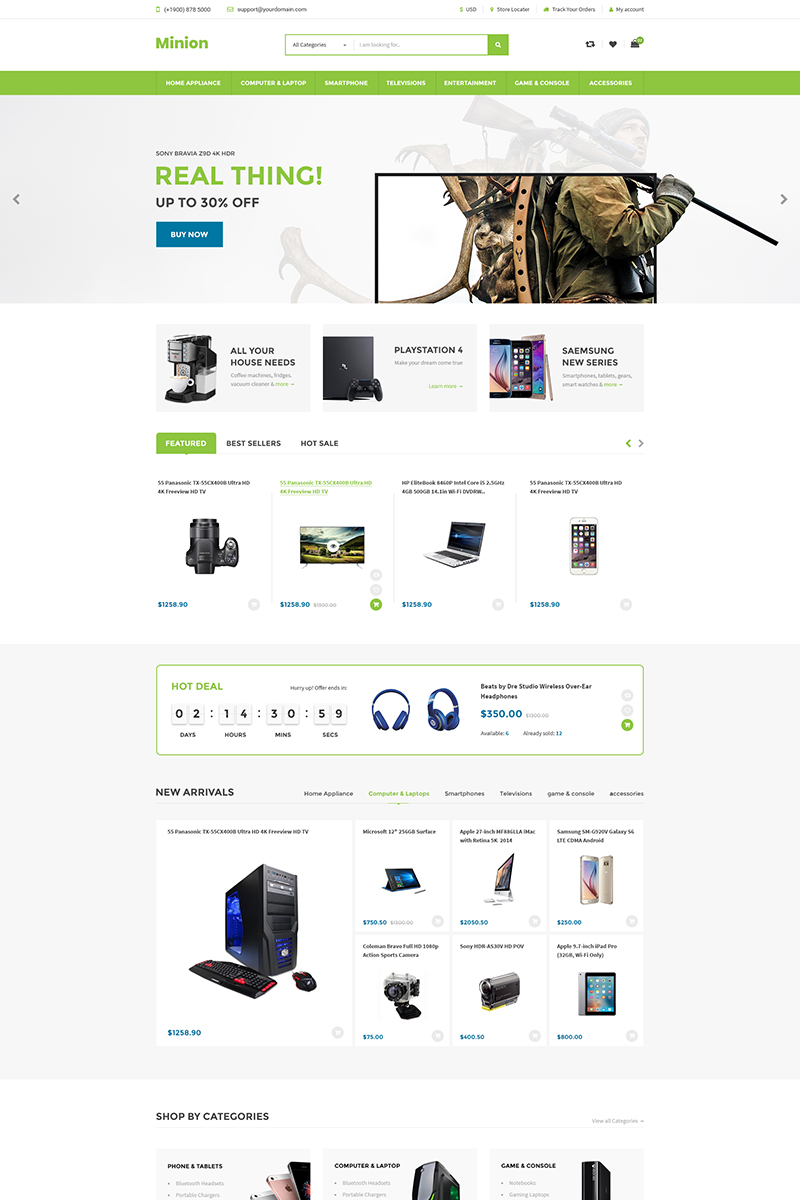 Minion | Multi-store Responsive Shopify Theme