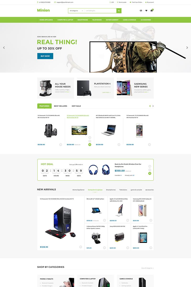 """Minion | Multi-store Responsive"" 响应式Shopify模板 #86971"