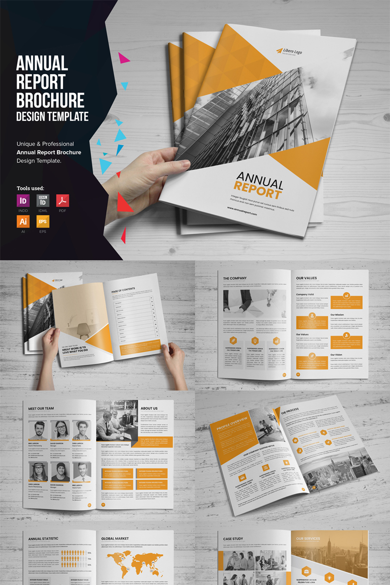 """Mouri - Annual Report Design"" Bedrijfsidentiteit template №86926 - screenshot"