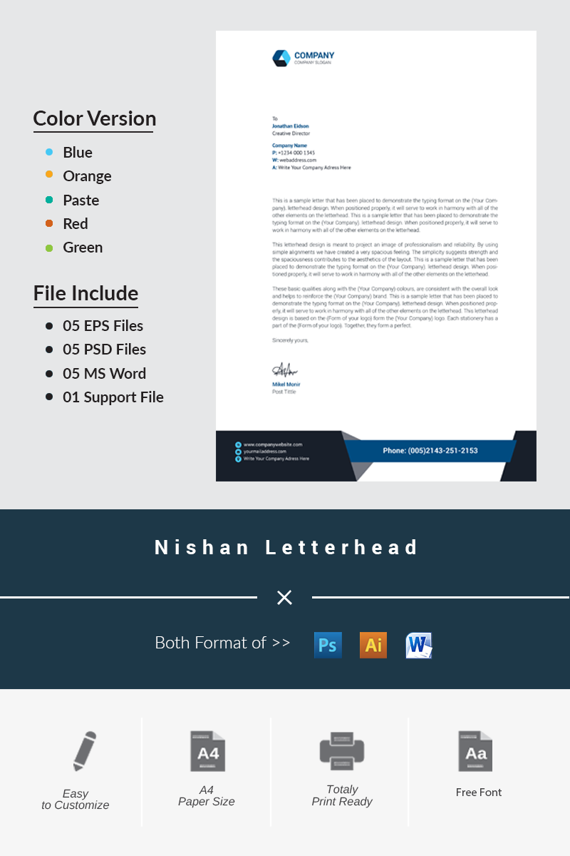 Nishan Letterhead Corporate Identity Template