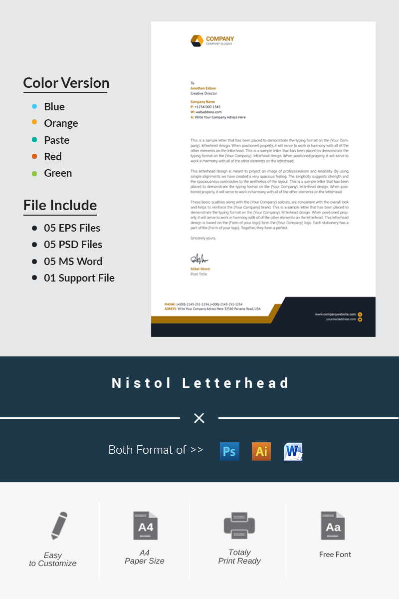 Nitol Letterhead Corporate Identity Template