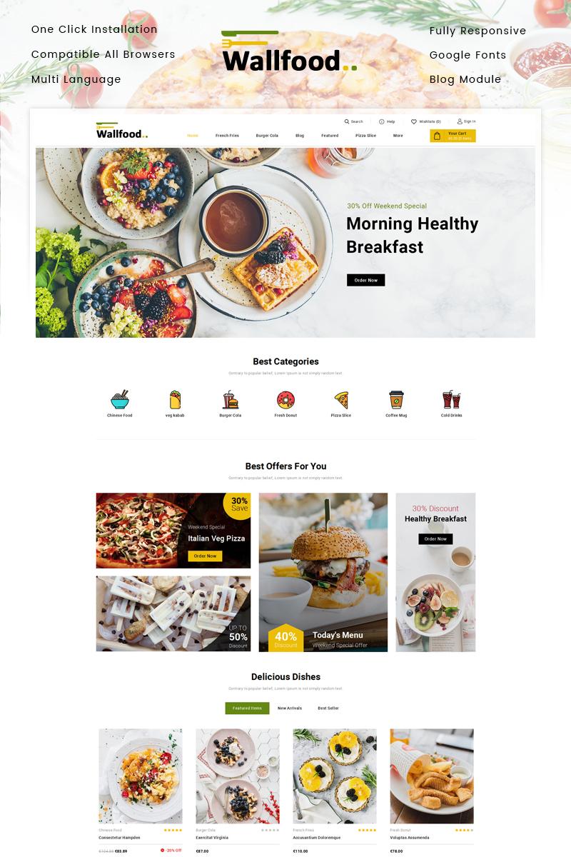 Responsywny szablon PrestaShop WallFood - Restaurant Store #86999
