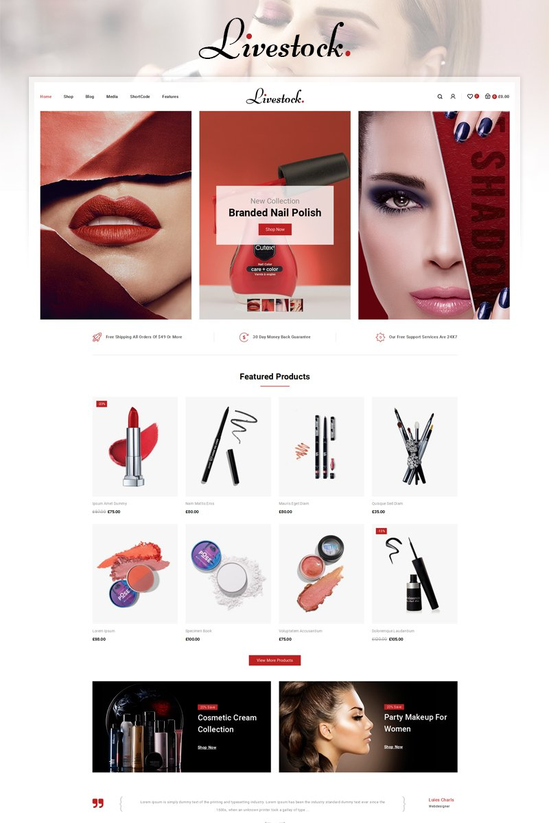 "Responzivní WooCommerce motiv ""LiveStock Multipurpose Store"" #86909"