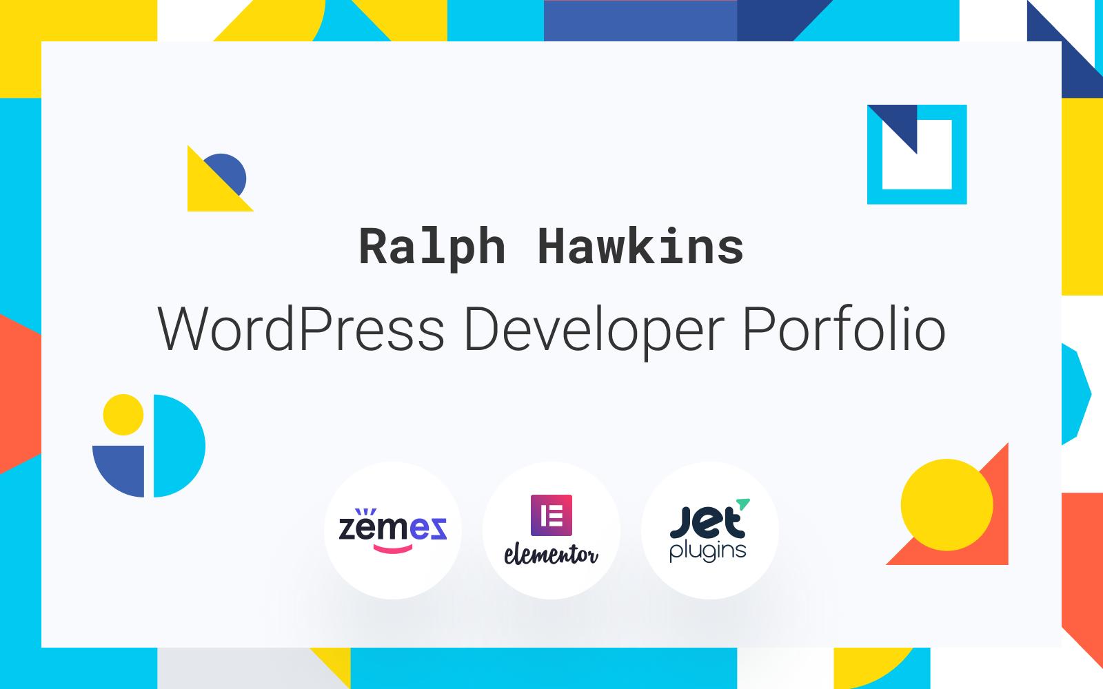 "Responzivní WordPress motiv ""Devling - Portfolio Website for Developer"" #86943"