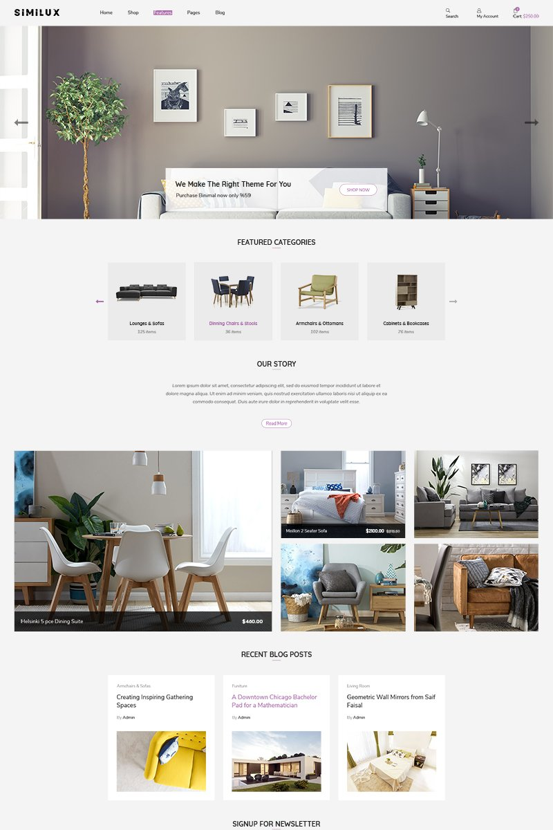 Similux | Minimal Shopify Theme - screenshot