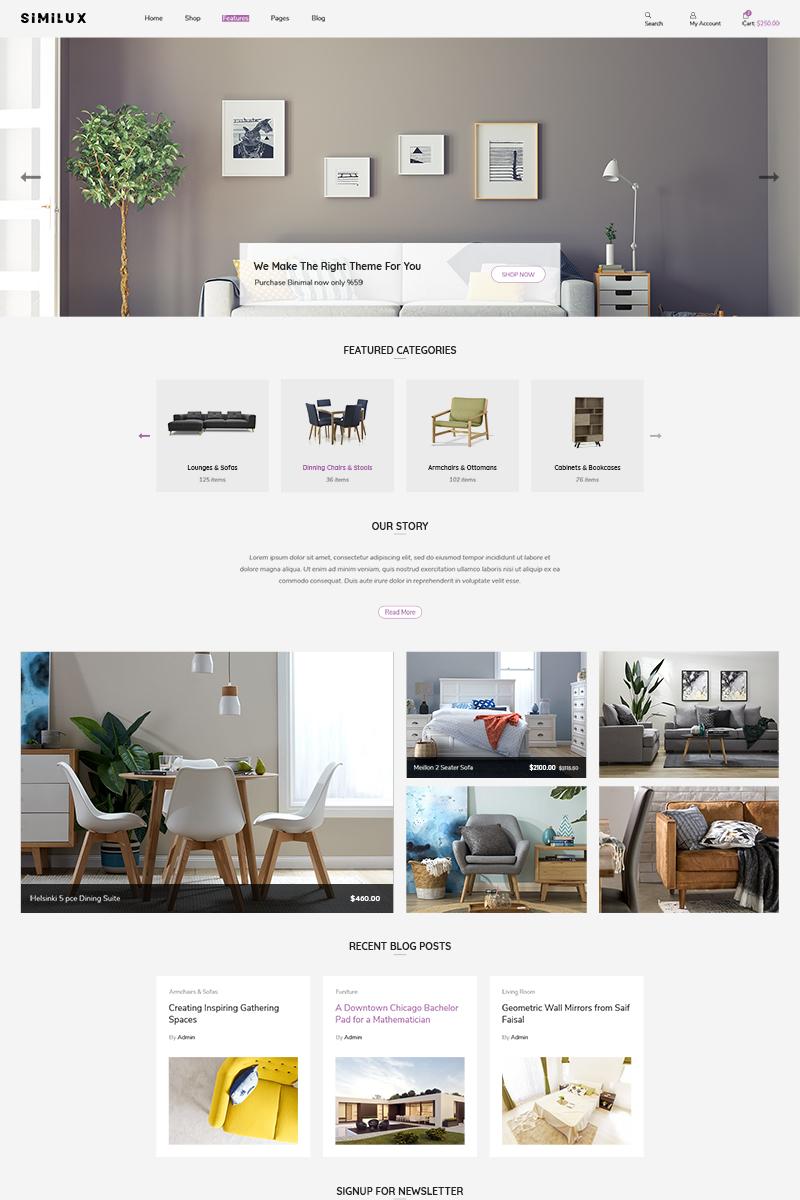 """Similux | Minimal"" 响应式Shopify模板 #86945"