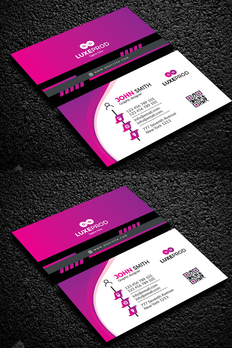Simple Modern business cards Corporate Identity Template