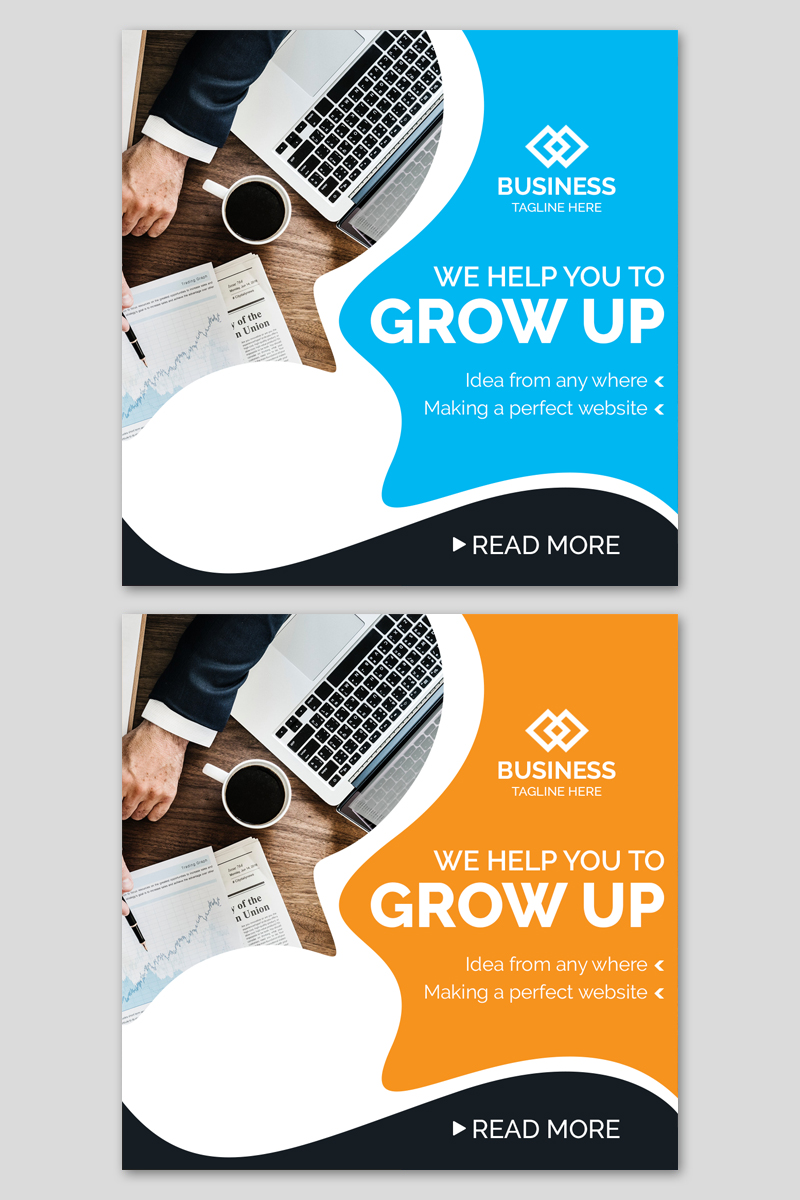 "Soziale Medien namens ""Business Instagram Post Banners"" #86929 - Screenshot"