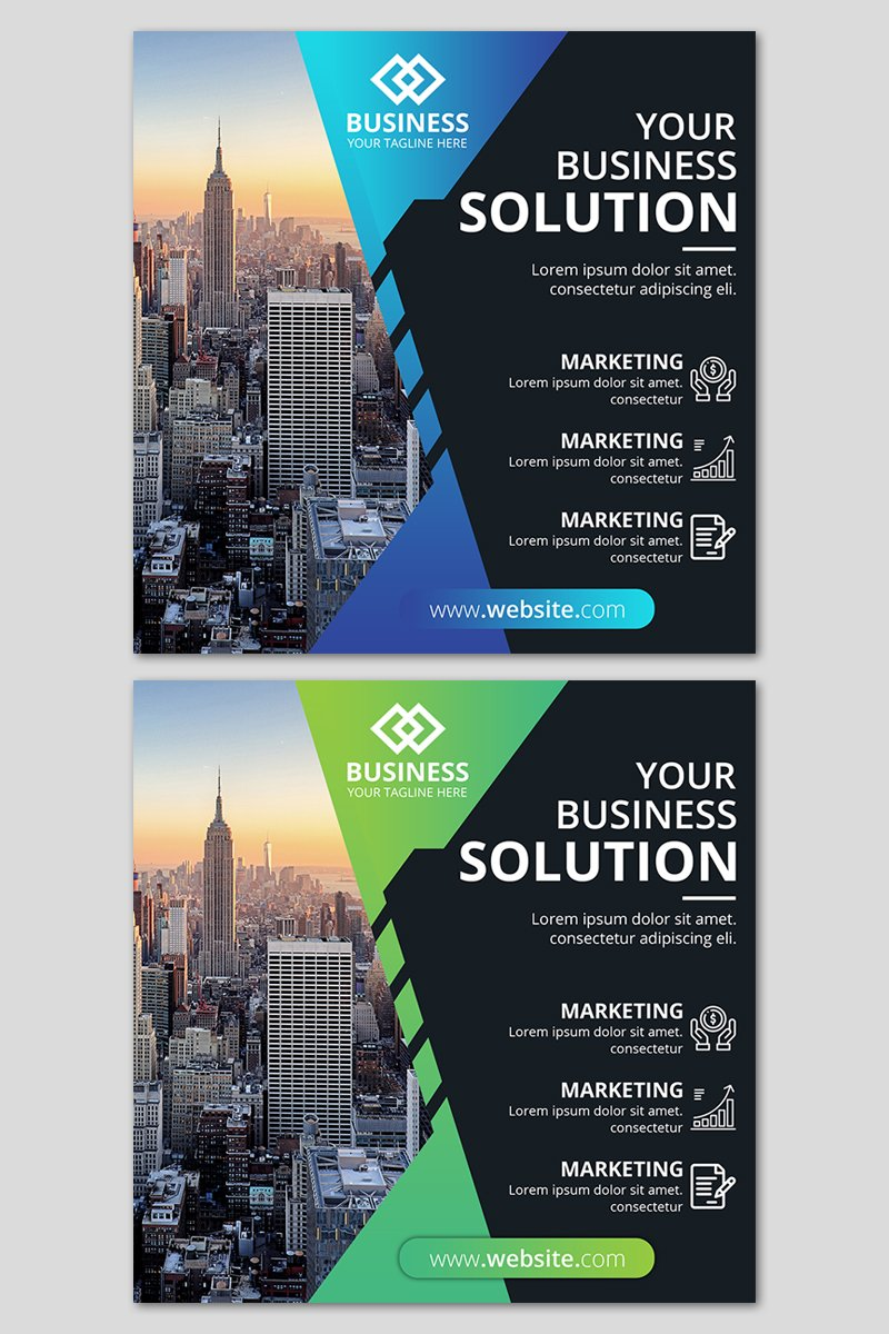 """Template Social Media #86938 """"Business agency banner template"""""""