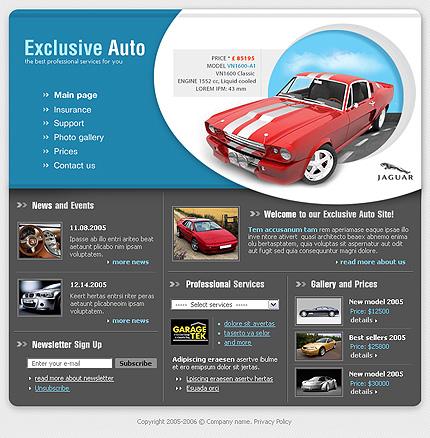 Creare site reprezentata auto