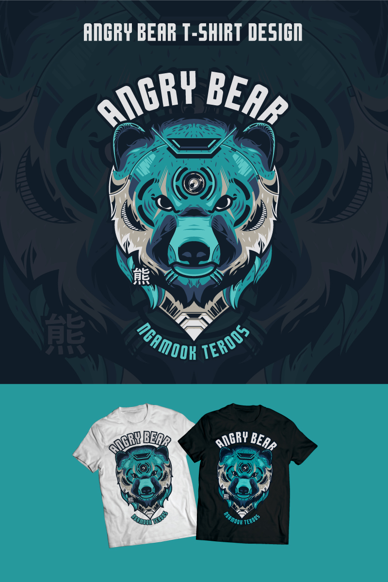 Angry Bear Design T-shirt