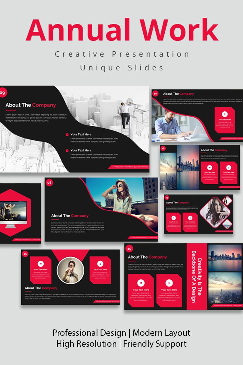 Annual Work PowerPoint Template