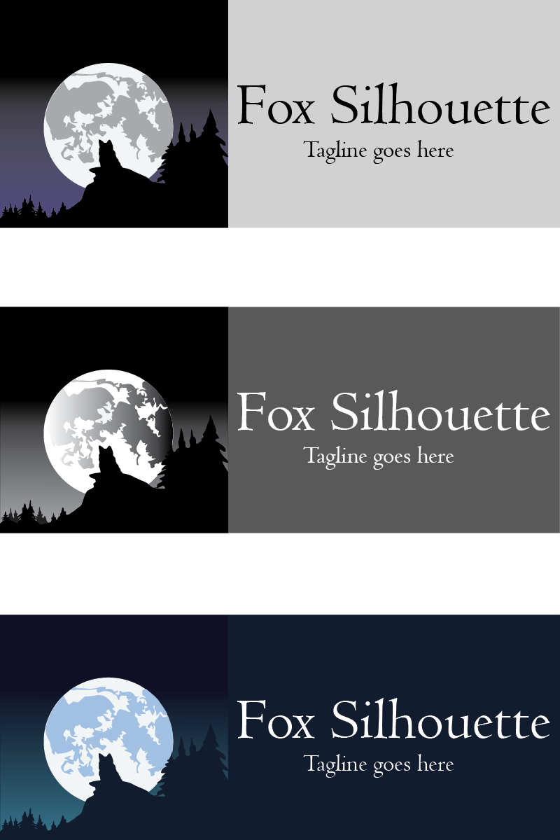 Fox Silhouette Logo Template - screenshot