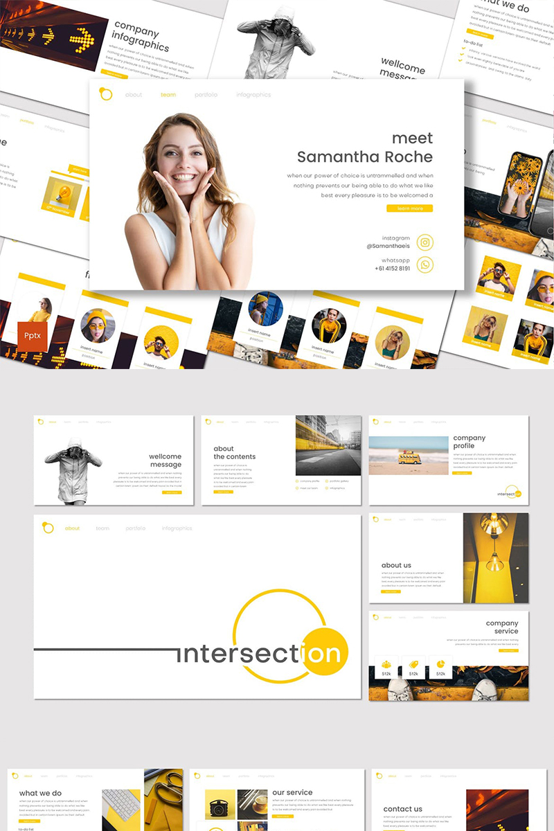 Intersection Template PowerPoint №87021 - captura de tela