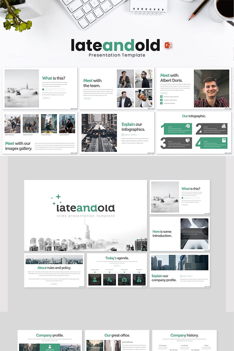 Lateandold PowerPoint Template - screenshot