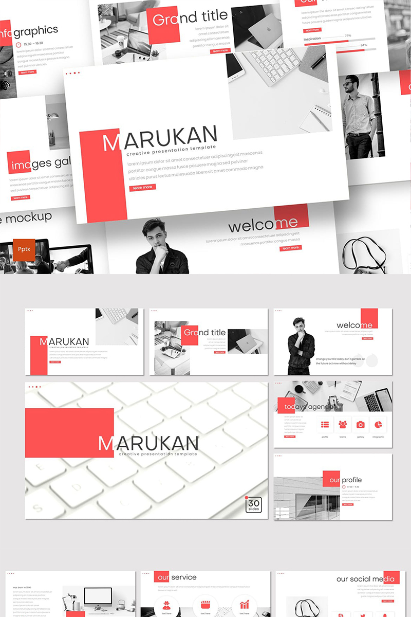 Marukan Template PowerPoint №87016 - captura de tela