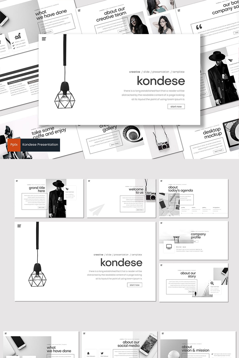 "Modello PowerPoint #87020 ""Kondese"" - screenshot"
