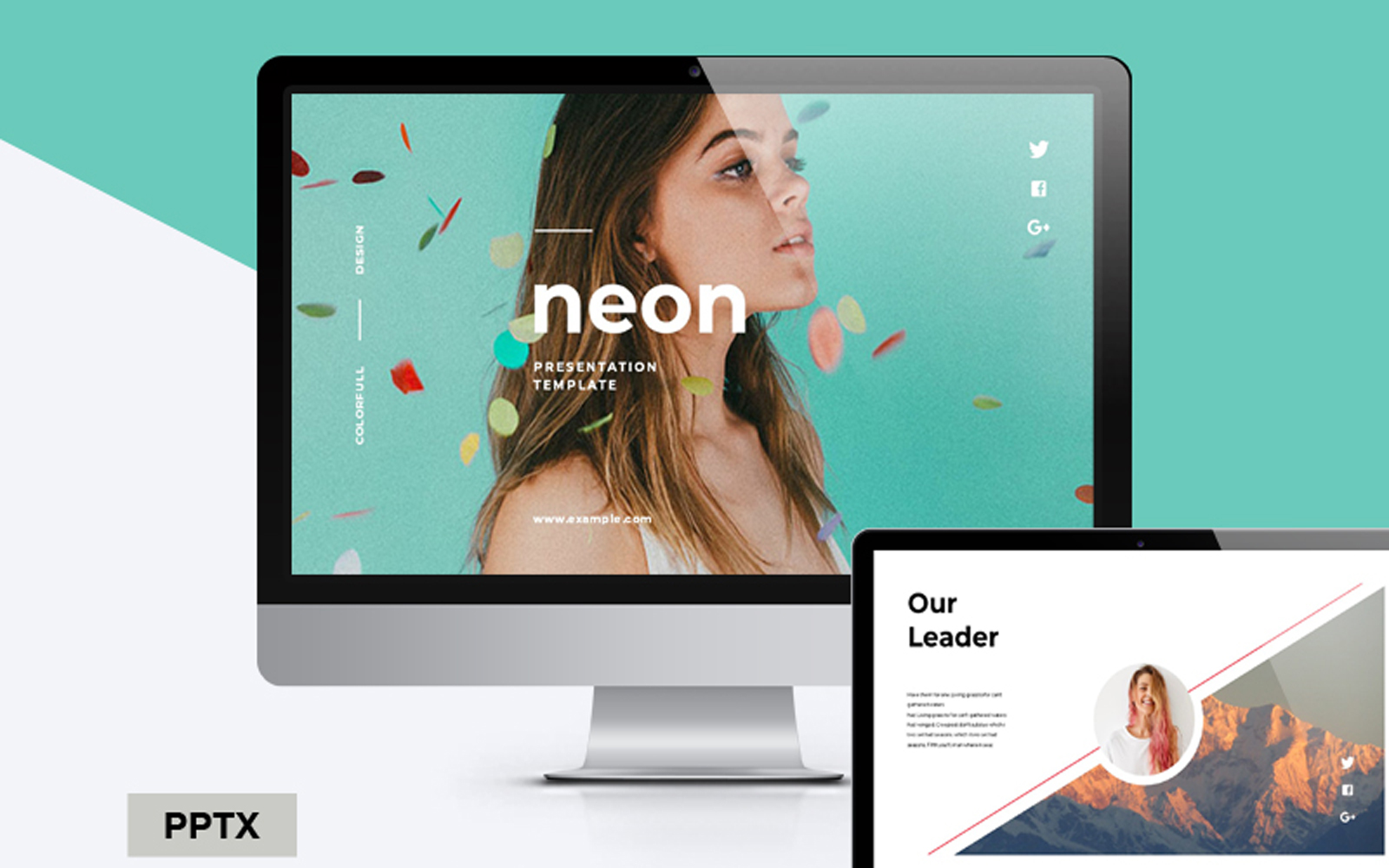 Neon Colorful PowerPoint Template