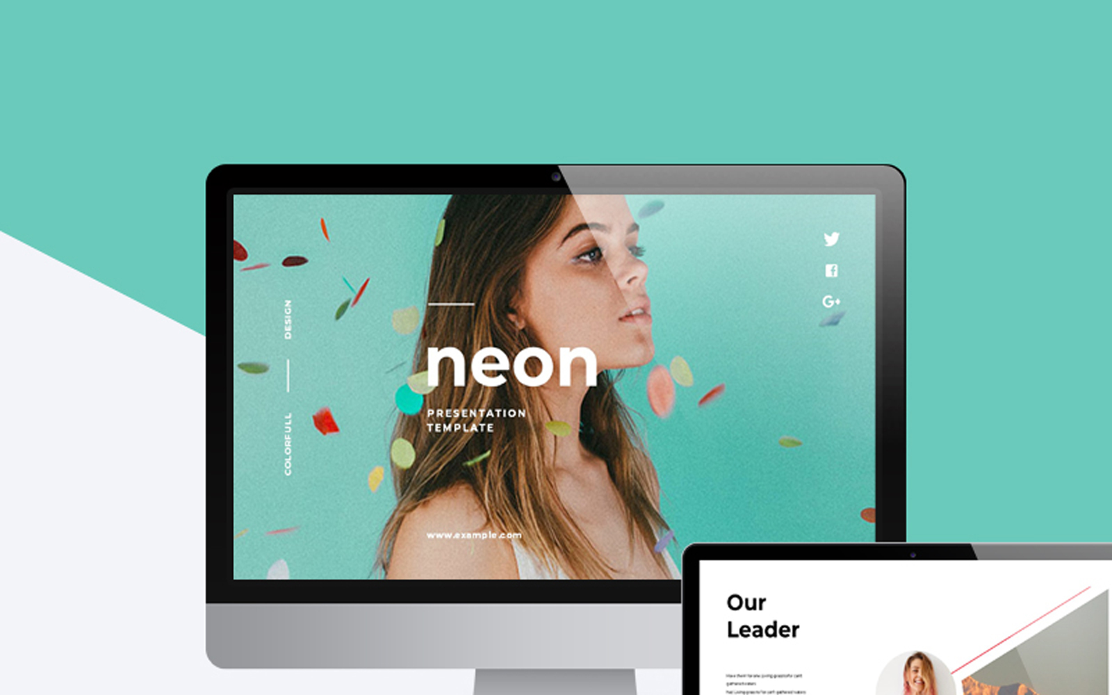 Neon Colorful Presentation PowerPoint Template