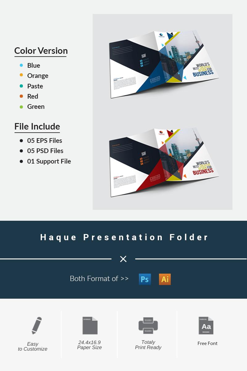 """Unternehmensidentität Vorlage namens """"Haque Presentation Folder"""" #87042 - Screenshot"""