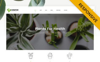 Conifer Plant Store WooCommerce Theme