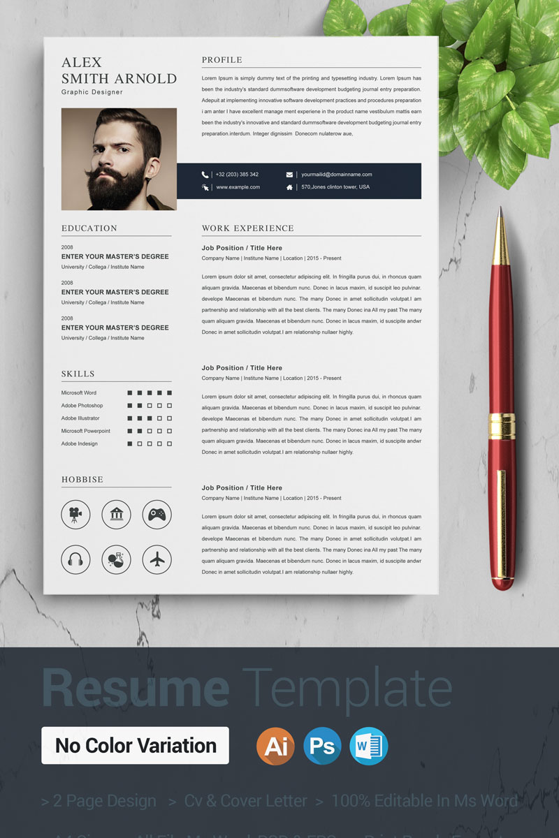 Arnold Resume Template - screenshot