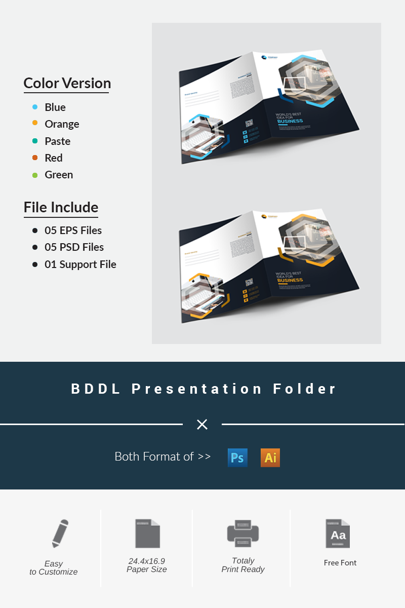 BDDL Presentation Folder Corporate Identity Template