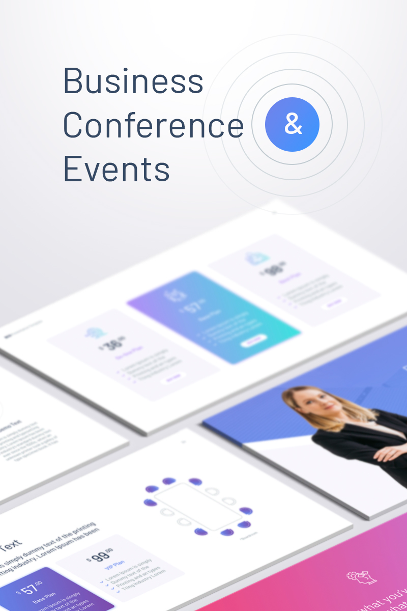 Business Conferences & Events Keynote sablon 87117 - képernyőkép
