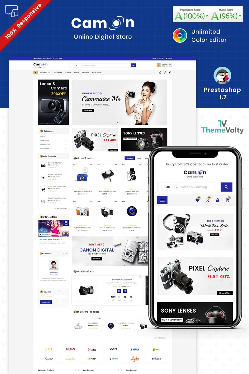 Camon - Electronic Shop PrestaShop Theme