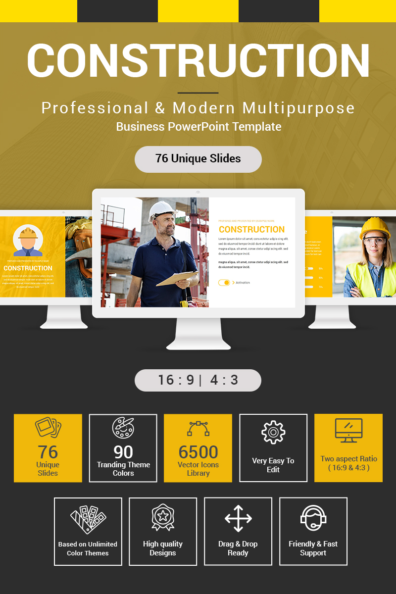 """Construction"" Premium PowerPoint Template №87186"