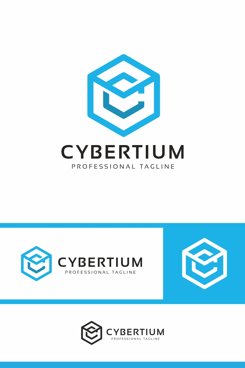"""Cybertium - C Letter"" - Шаблон логотипу №87121"