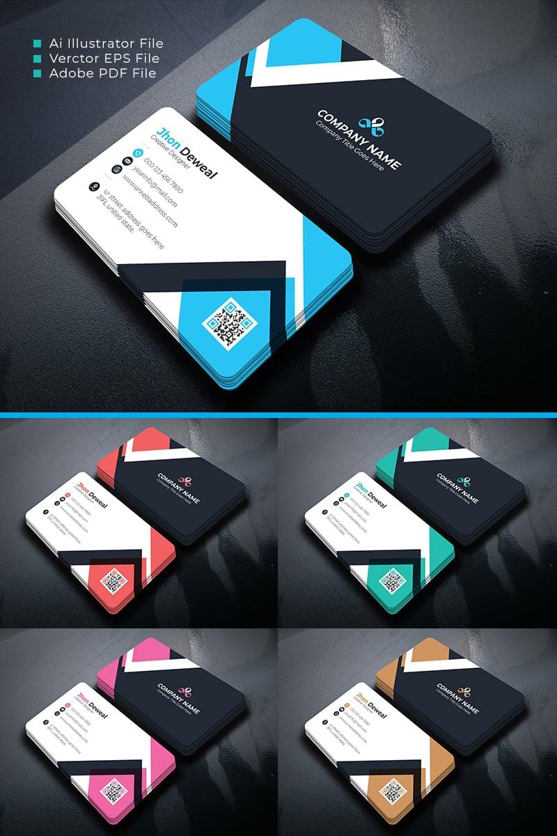 """Deweal Business Card"" Premium Bedrijfsidentiteit template №87107"