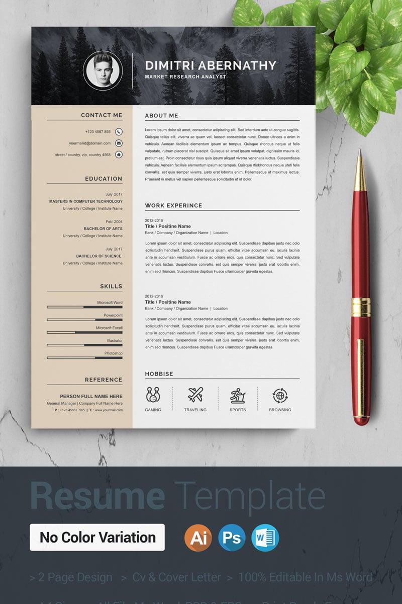 Dimitri Resume Template - screenshot