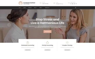 Dr. Norah Crawford - Psychologist Multipage Modern HTML Website Template