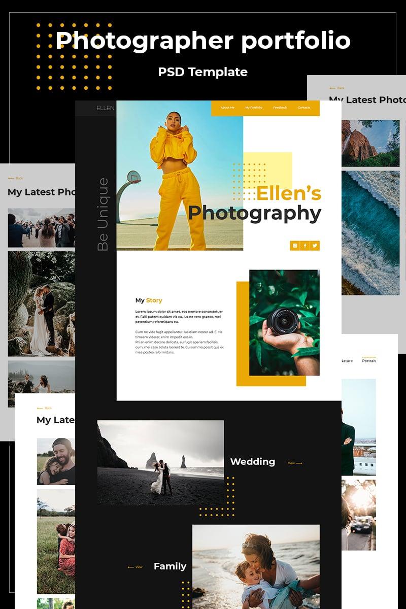 """Ellen's Photography"" - адаптивний PSD шаблон №87101"