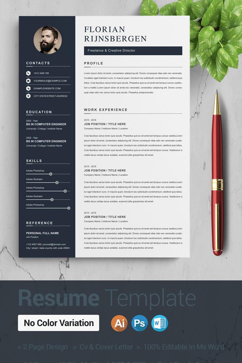 Florian Resume Template - screenshot