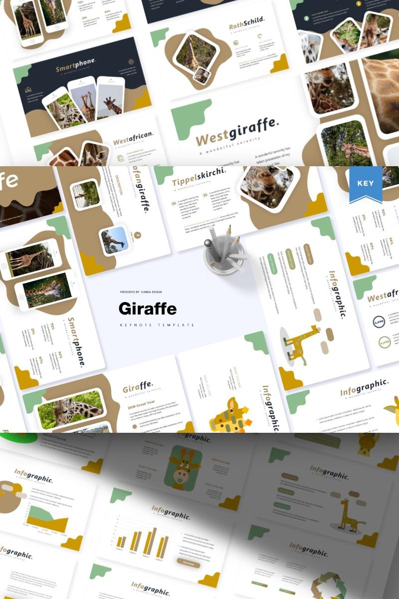 """""""Giraffe  """" - Keynote шаблон №87143 - скріншот"""