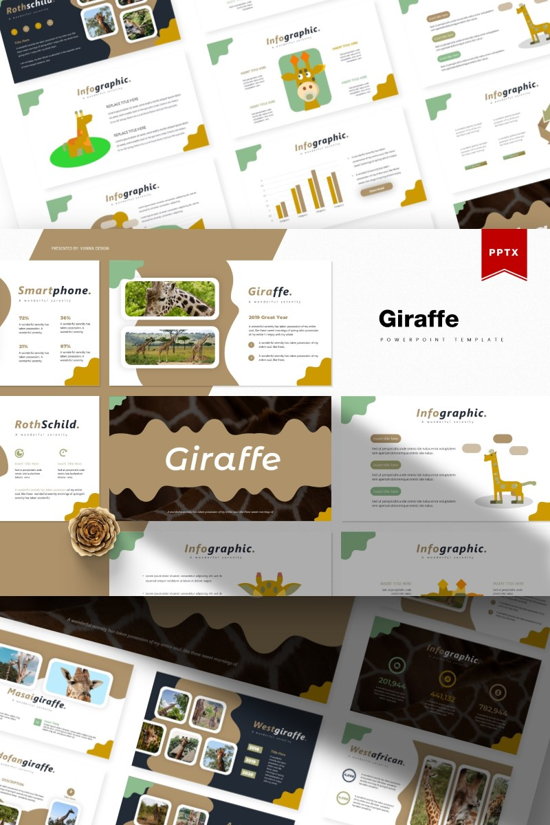 Giraffe | PowerPoint Template - screenshot