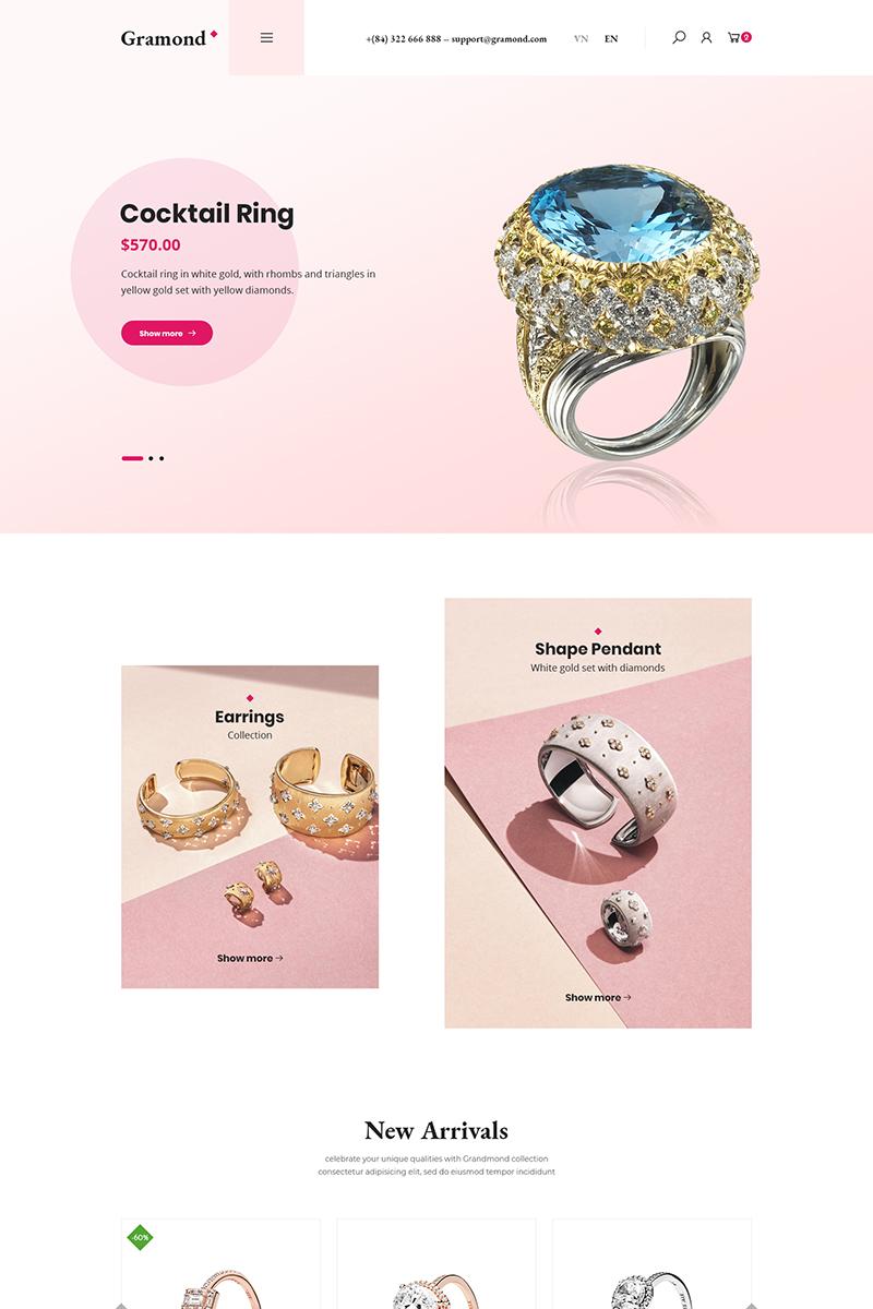 """Gramond - Jewelry Shop"" WooCommerce Thema №87134"