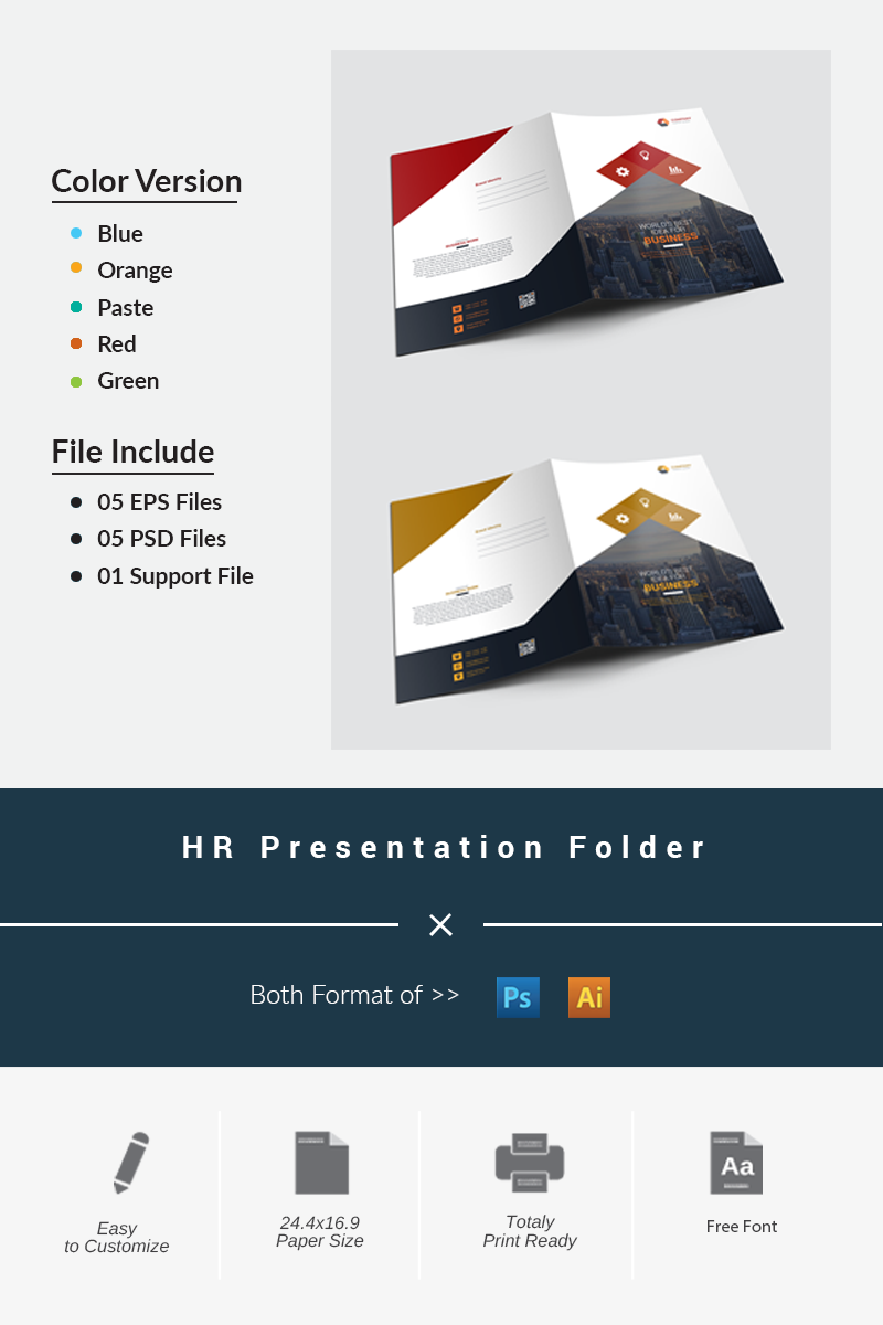 HR Presentation Folder Corporate Identity Template