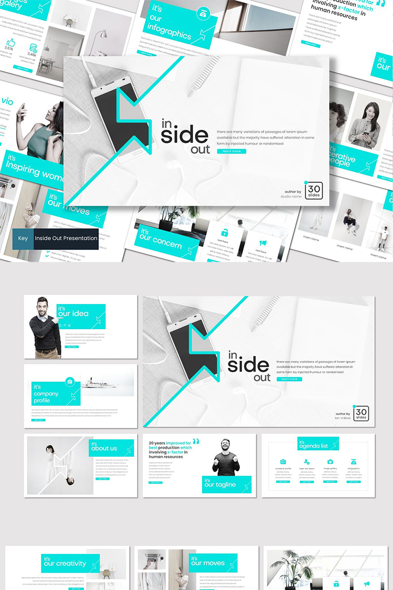 Inside Out Keynote Template #87114 - skärmbild