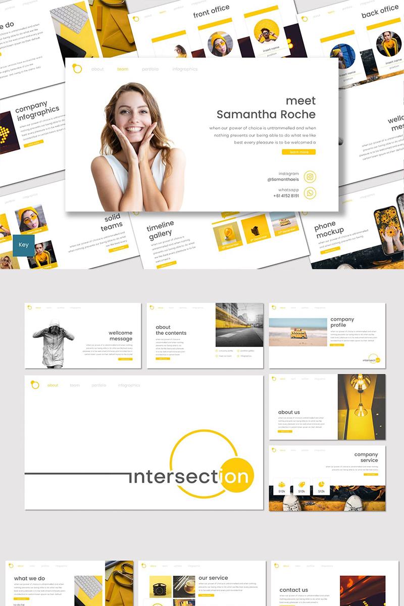 """Intersection"" modèle Keynote  #87112 - screenshot"