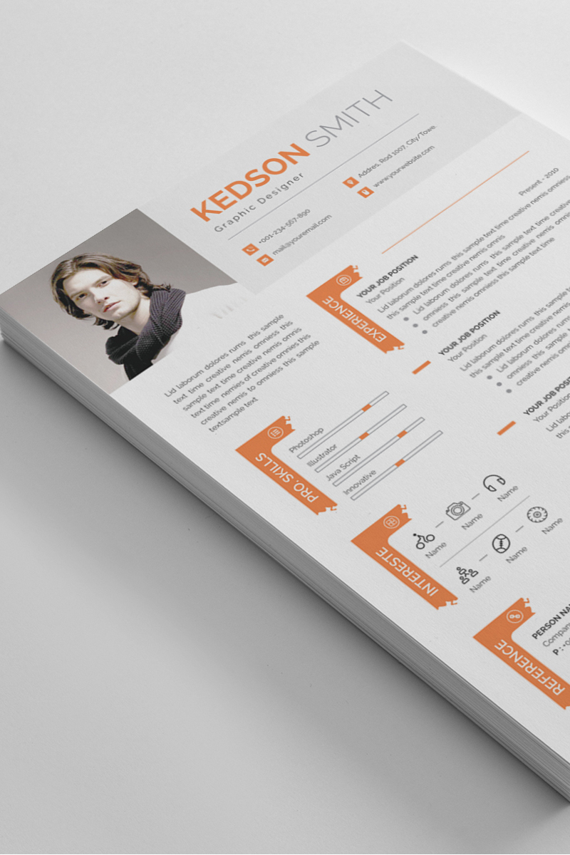 Kedson Smith Word Resume Template - screenshot