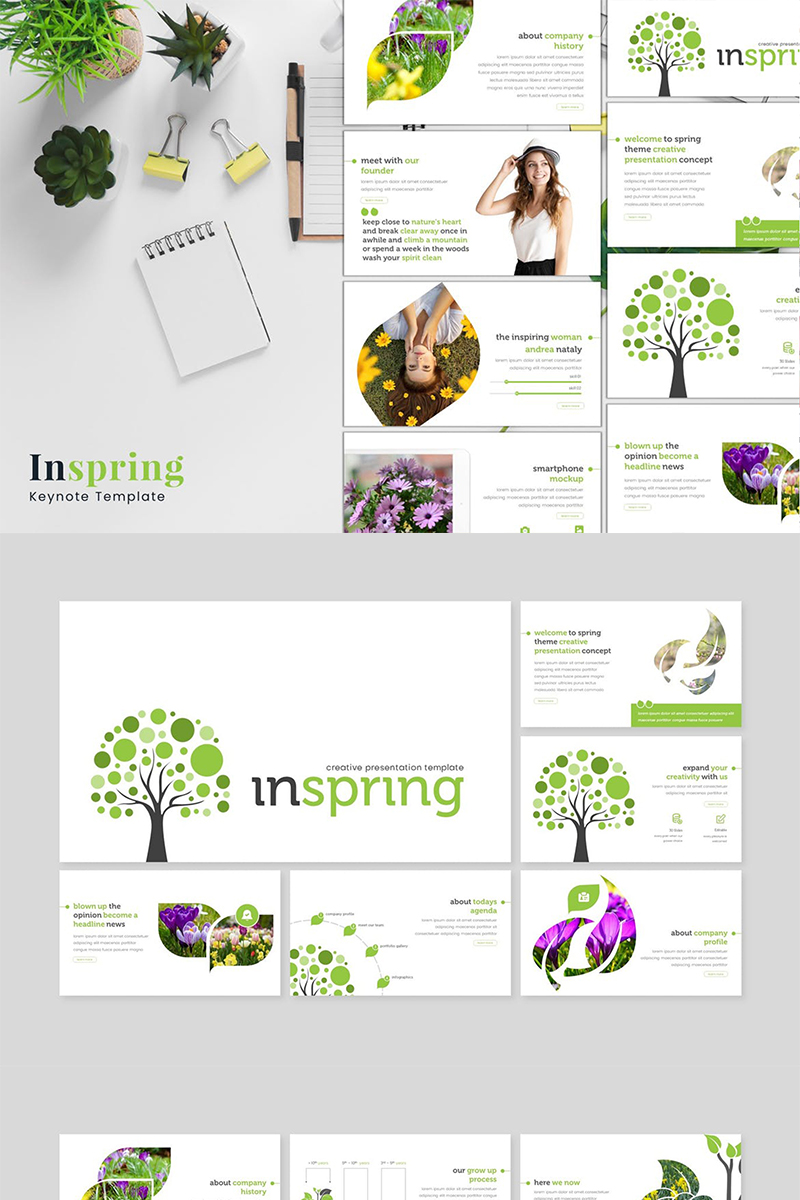 "Keynote Vorlage namens ""Inspring"" #87113 - Screenshot"